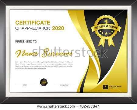 certificate template vector illustration, diploma layout in a4 - corporate certificate template