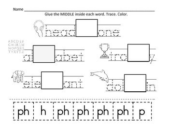 Ph Digraph Worksheets | Digraphs worksheets, Ph and Word work centers