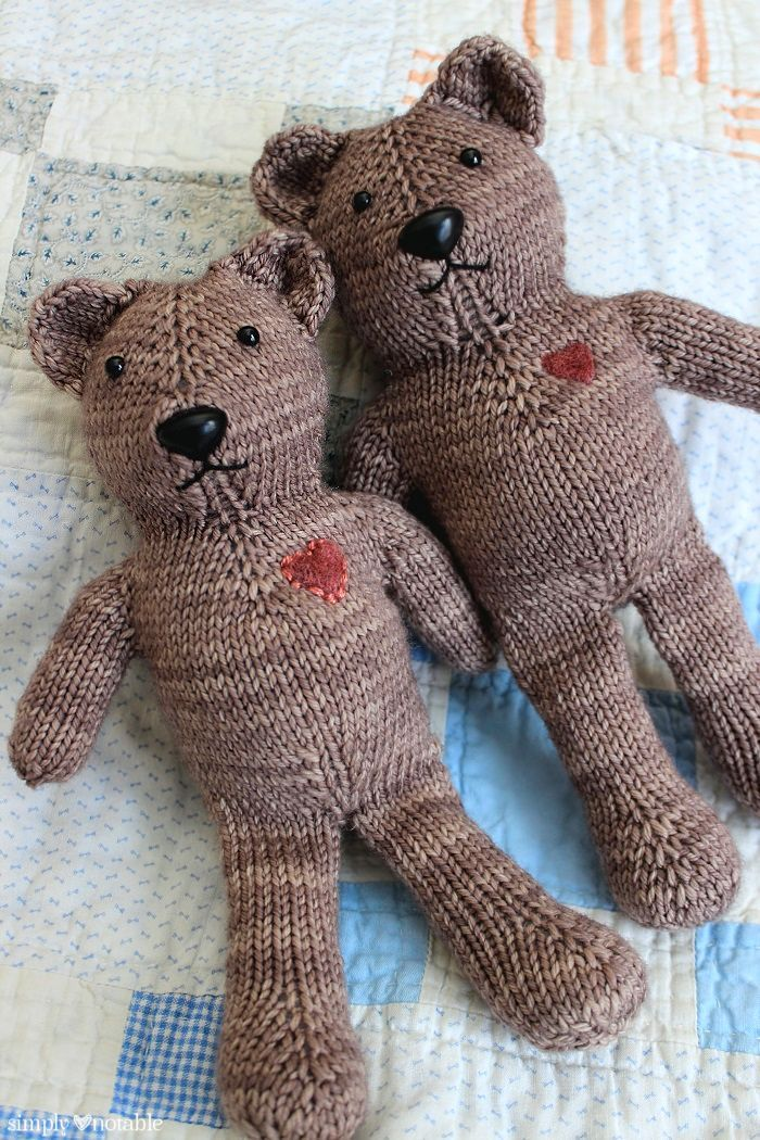 Magic Loop Teddy Bear Knitting Pattern Simplynotable Charity