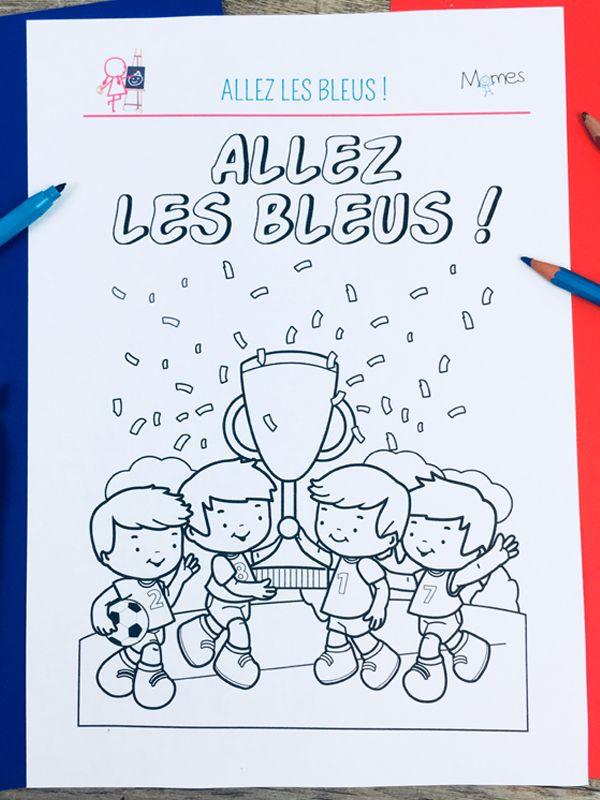 Coloriage Football Allez Les Bleus Coloriages Football Et Sports