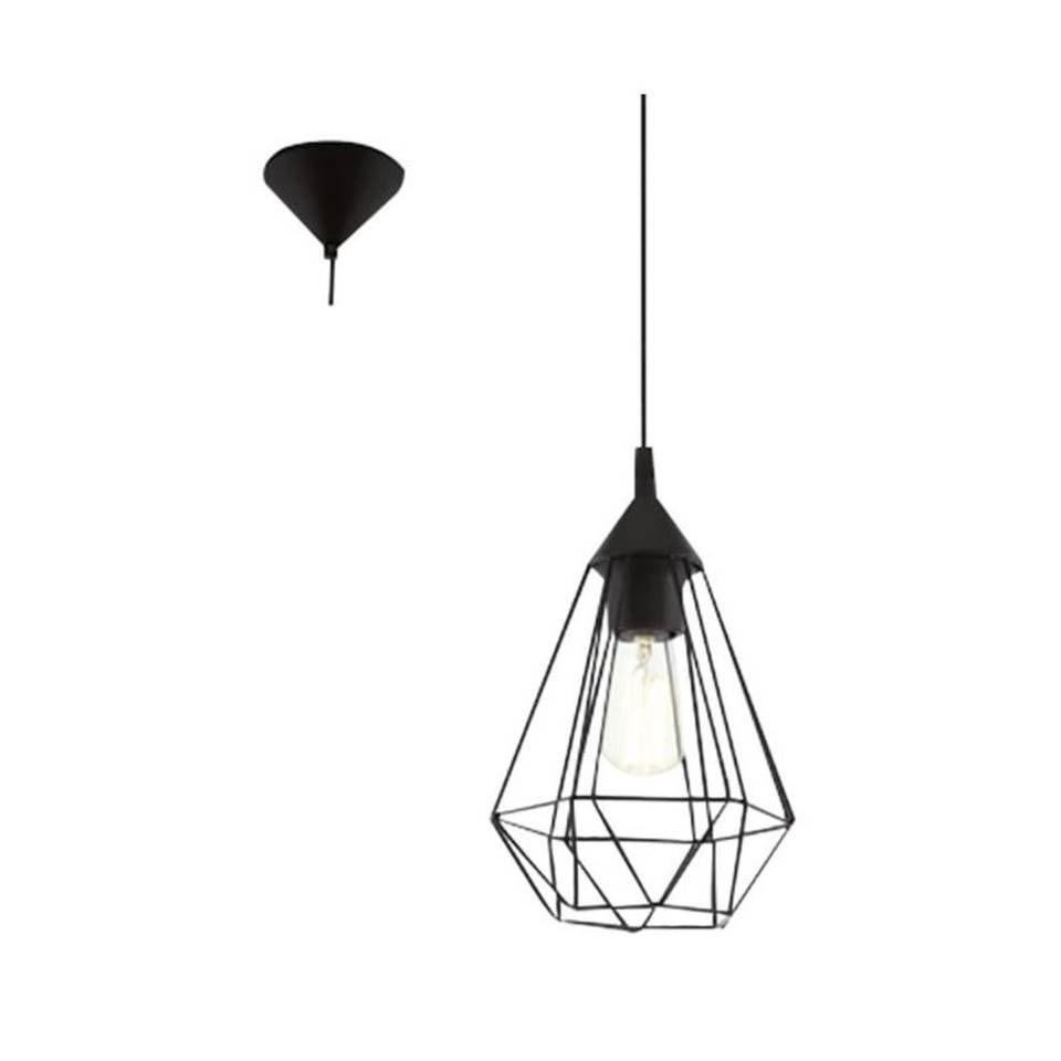 Eglo Hanglamp Tarbes Zwart Hanglamp Zwart Staal