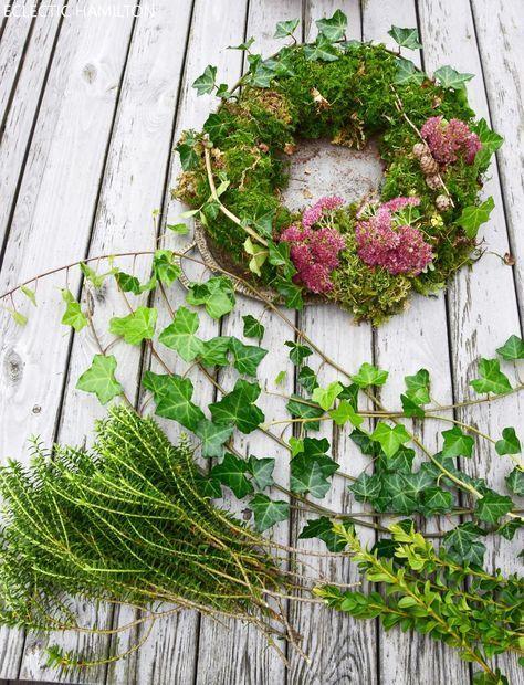 DIY Mooskranz - einfach und schnell gebunden (Diy Wreath Natural)