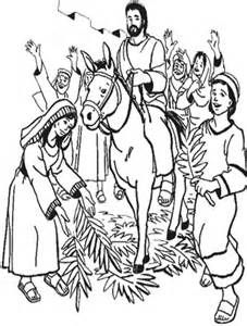Triumphant Entry Colouring Pages Picture Sunday School Coloring