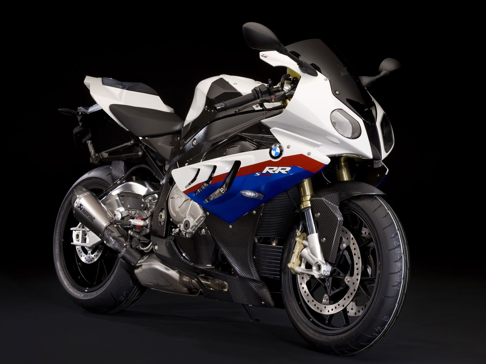 Bmw S 1000 R Bmw Motorsport Colors White Blue Red Akrapovic