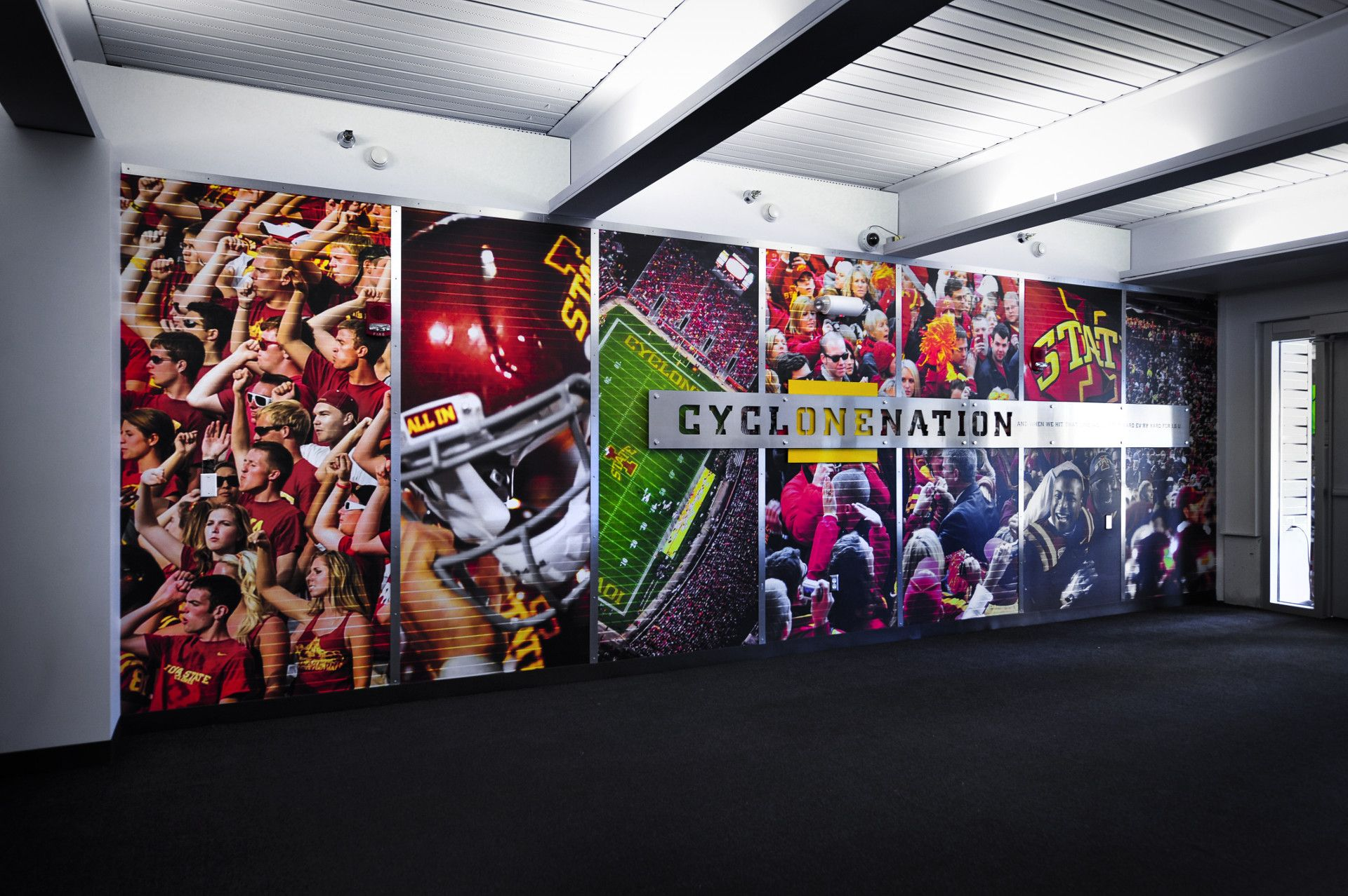 Large Scale Graphics Sports Graphic Design Wall Graphics
