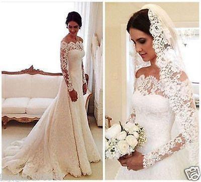 Details zu New white/ivory wedding dress bridal gown custom size 6-8 ...