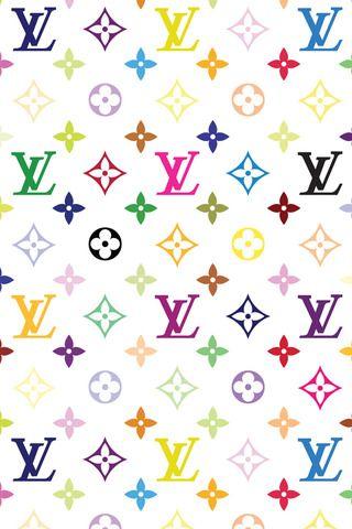 4079a0b661366 Louis Vuitton White Multicolor Wallpaper