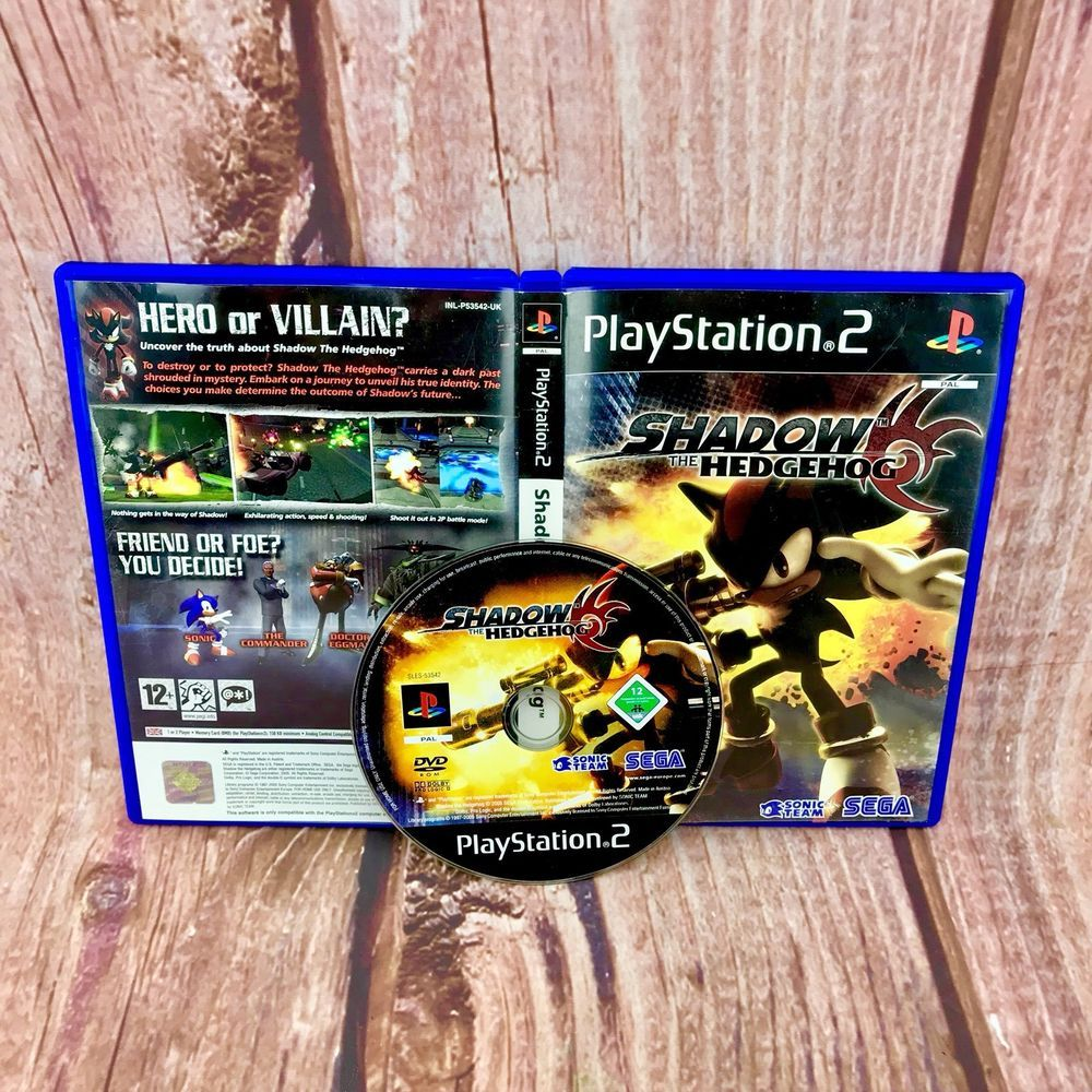 shadow the hedgehog sony playstation 2 ps2 sega game complete with rh pinterest com PlayStation 4 Controller Layout PlayStation ManualsOnline