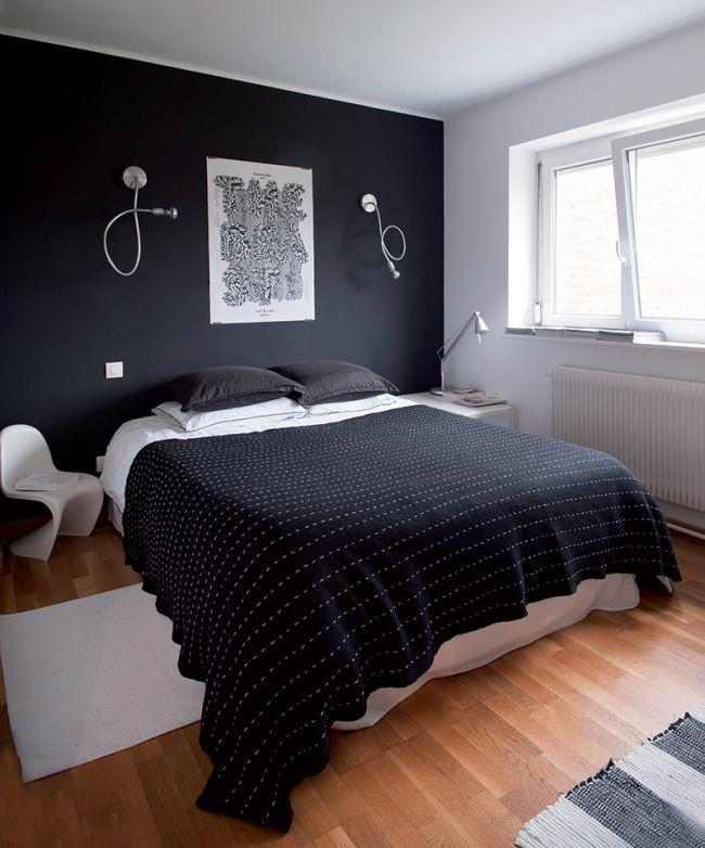 Maison cosy en black white there 39 s no place like home d co chambre parentale noir - Deco chambre noire ...