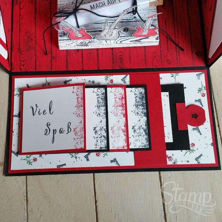 Das rockt! – Explosionsbox zum Rockkonzert – Stamp-Style #konzertkartenverpacken
