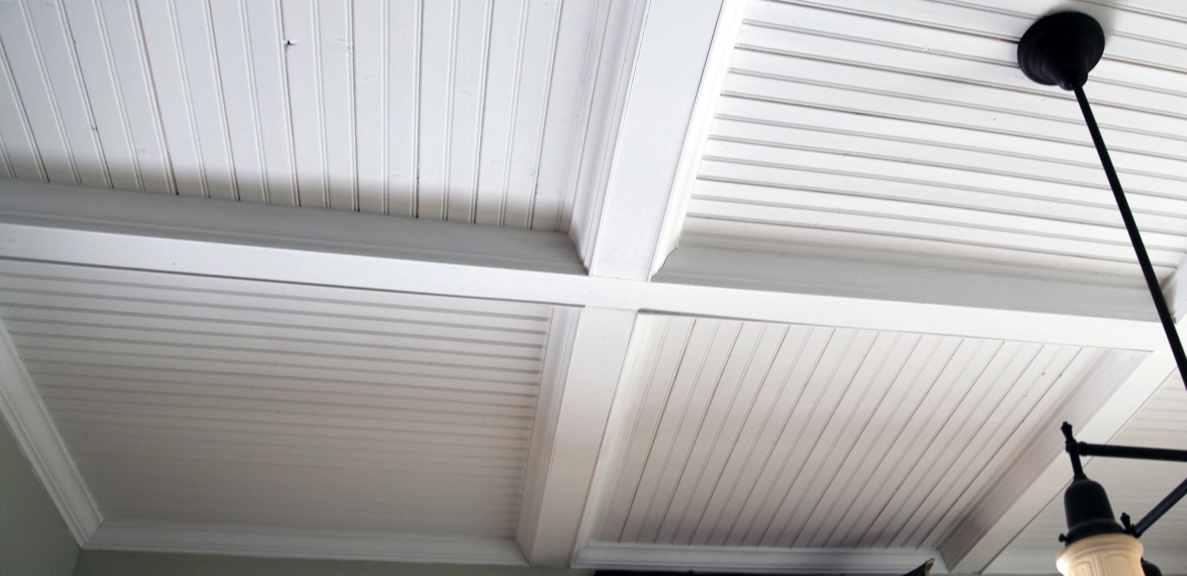 Thought On Sunroom Ceiling Fake Beams Beadboard And Trim