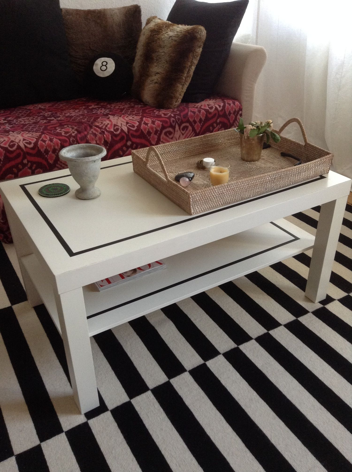 A Simple & Stylish DIY IKEA Coffee Table Upgrade Ikea
