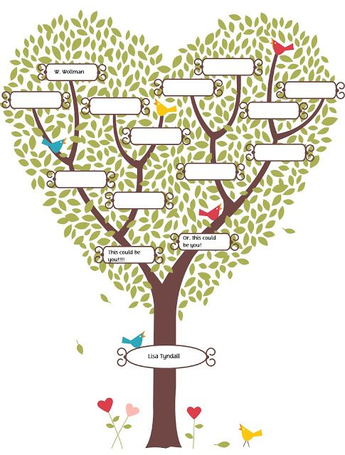 like the heart genealogy pinterest tree templates blank