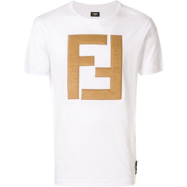 7a556da2 Fendi Crew Neck T Shirt ($675) ❤ liked on Polyvore featuring men's fashion,  men's clothing, men's shirts, men's t-shirts, white, mens white cotton  shirts, ...