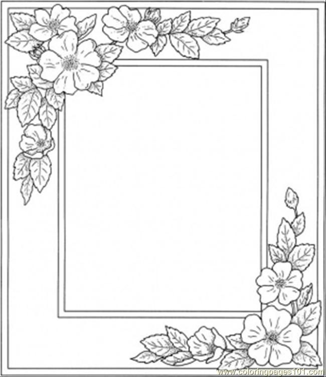 Printable Flower Coloring Pages Free Printable Coloring Page Photo Frame With Flowers Printable Flower Coloring Pages Flower Coloring Pages Flower Printable