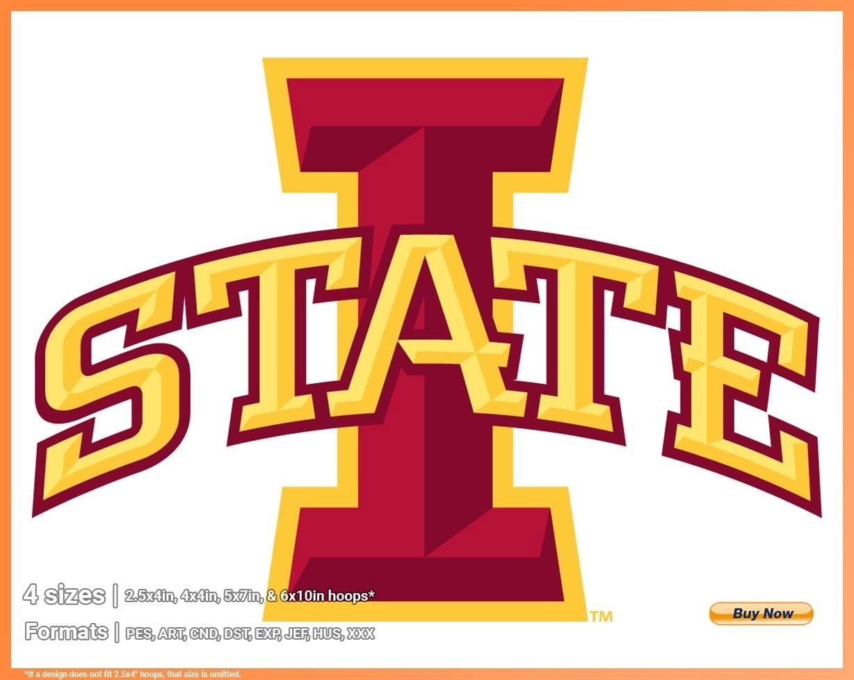Iowa State Cyclones College Sports Embroidery Logo In 4 Sizes