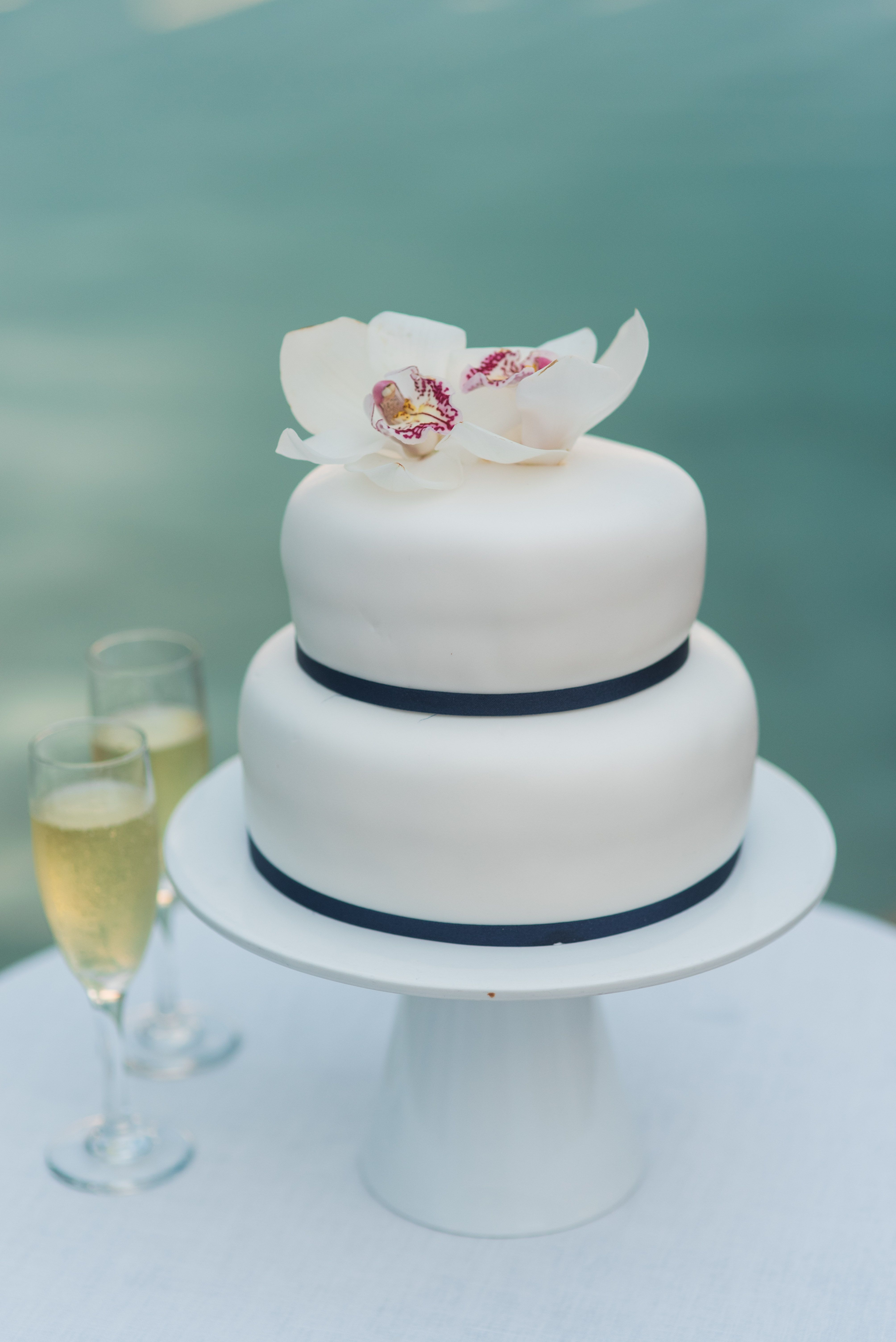 Navy Teal Simple Wedding Cake Sandals Resort Simple Wedding Cake Jamaica Wedding Jamaican Wedding
