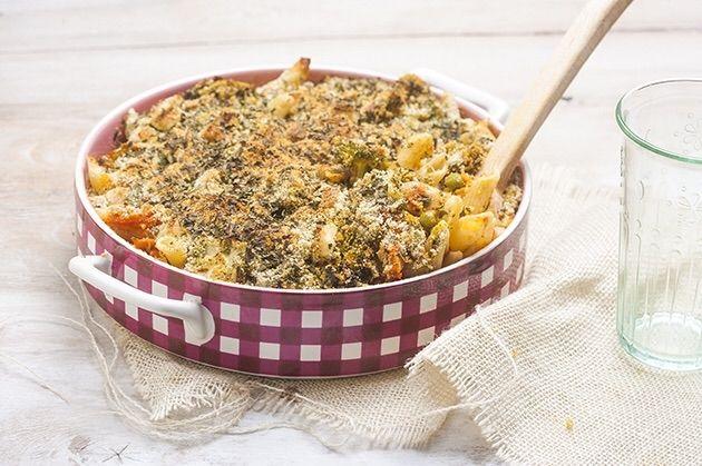 Penne Rigate με σάλτσα Arabiata και λαχανικά με κρούστα στο φούρνο