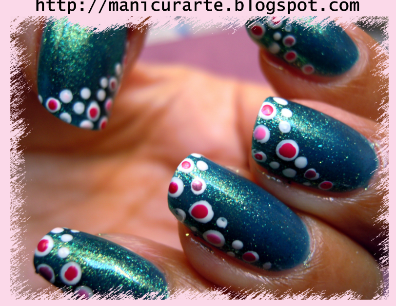 *MANICURARTE*: Watercolour and pink polka dots