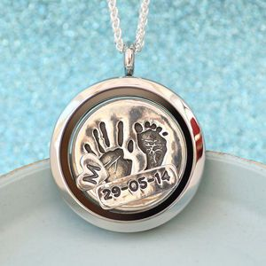 Handprint And Footprint Floating Charm Locket - jewellery gifts for mothers