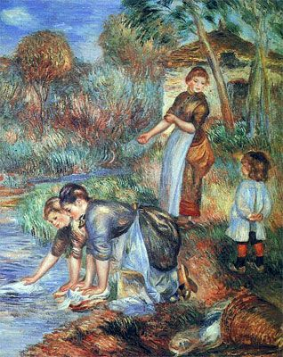 Renoir:  The Washer-Women    1889 | Smelly Towels? | Stinky Laundry? | Washer Odor? | http://WasherFan.com | Permanently Eliminate or Prevent Washer & Laundry Odor with Washer Fan™ Breeze™ | #Laundry #WasherOdor  #SWS