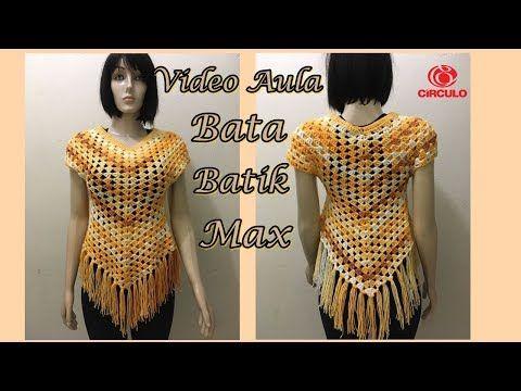 Blusa em Crochet - TAM ÚNICO - M - PARTE 1 Renata Vieira - YouTube ...
