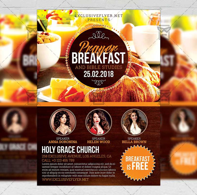 Prayer Breakfast Flyer