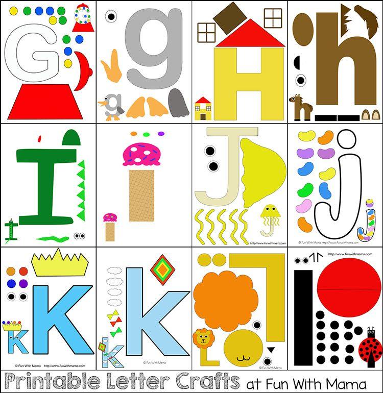 Printable Alphabet Letter Crafts Letter A Crafts Alphabet