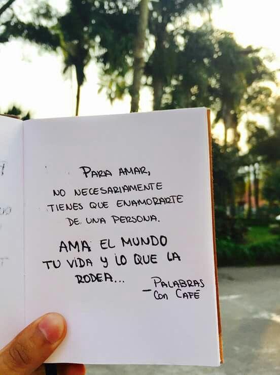 Amar La Vida Y Nada Mas Buenos Mensajes Pinterest Vida Frases