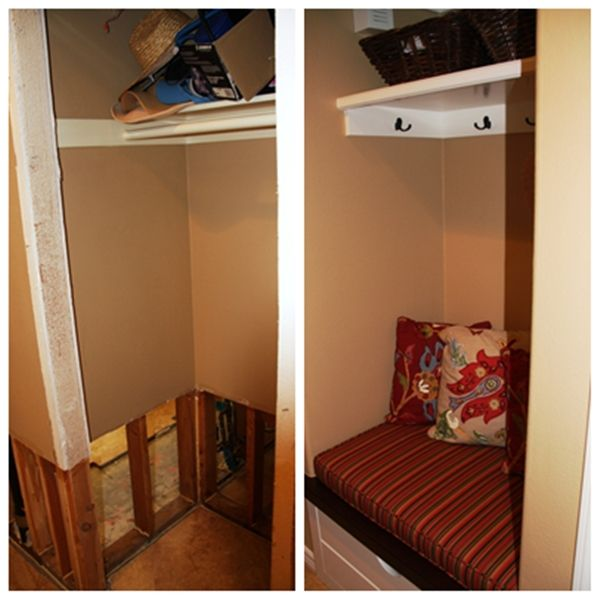 Hall Closet Mudroom Images | Hall Closet Redo / New Mud Room Area