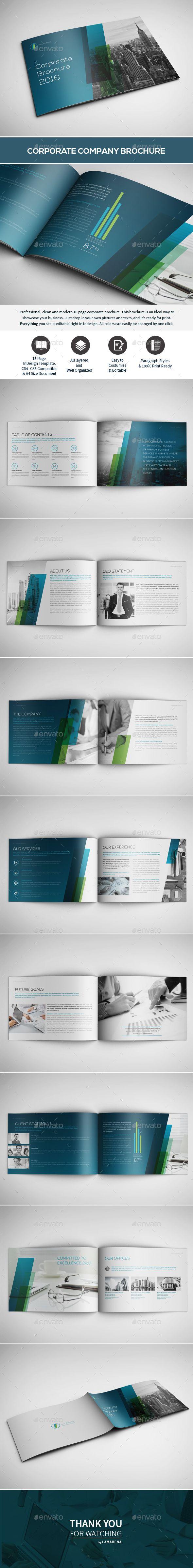 Corporate Brochure | Brochure empresarial, Composición y Elementos