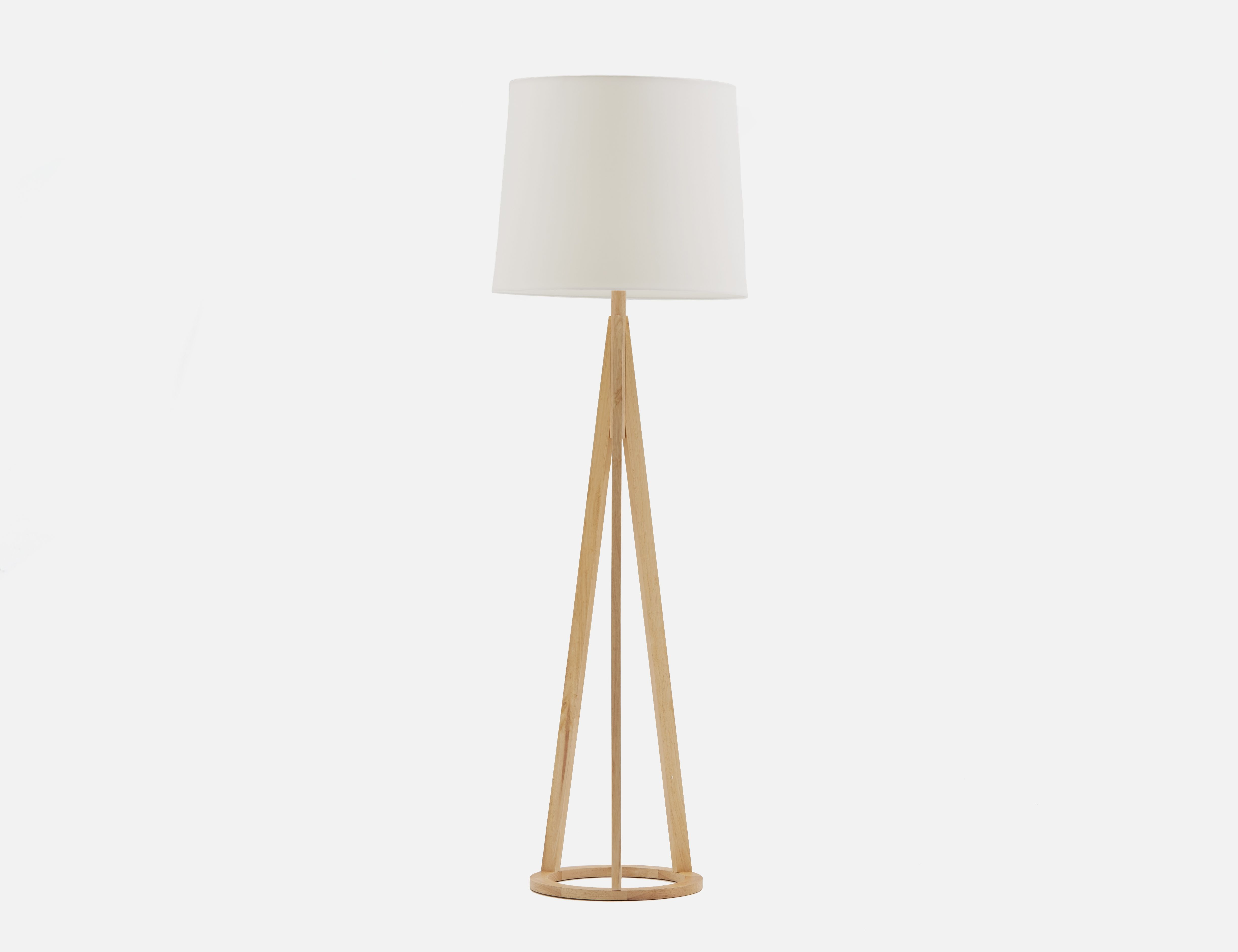 Bimini White And Natural Floor Lamp 160cm Height Structu Natural Floor Lamps Adjustable