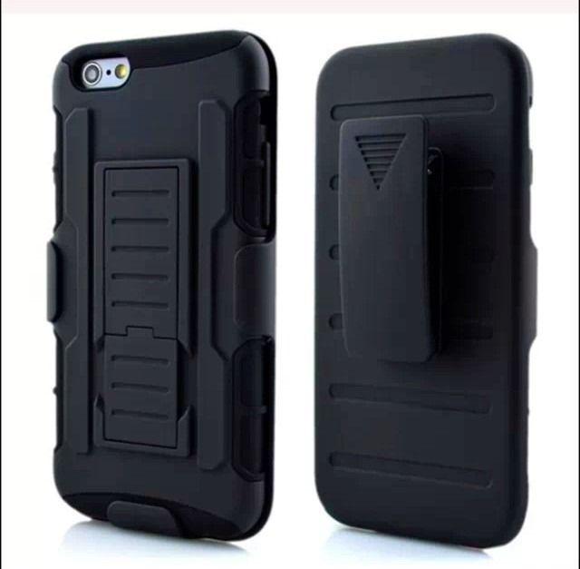 0102dfdbafe 9) Funda Clip Iphone 6 (4.7) Holster Uso Rudo Protector Robot ...