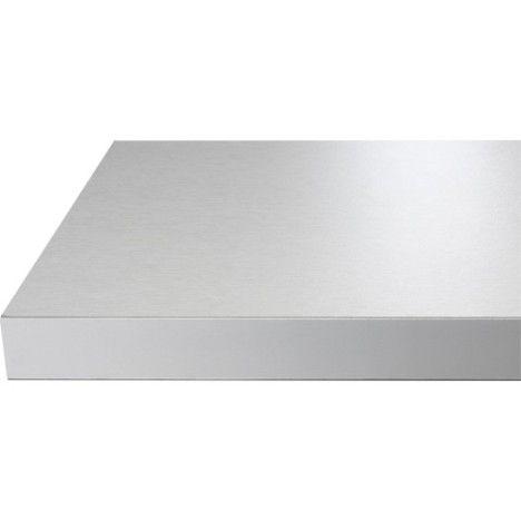 Plan Snack Stratifié Aluminium Cendré 200 X 40 Cm ép 38 Mm