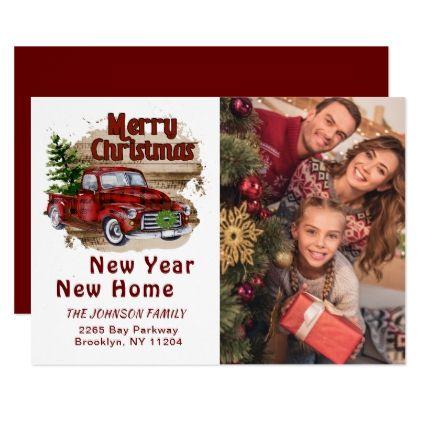 Change of Address Christmas Photo Holiday Card | Zazzle ...
