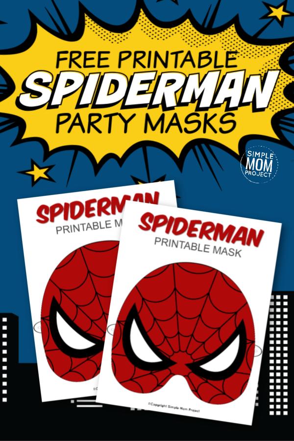 Free Printable Spider Man Mask Templates Spiderman Spiderman Mask Spiderman Party