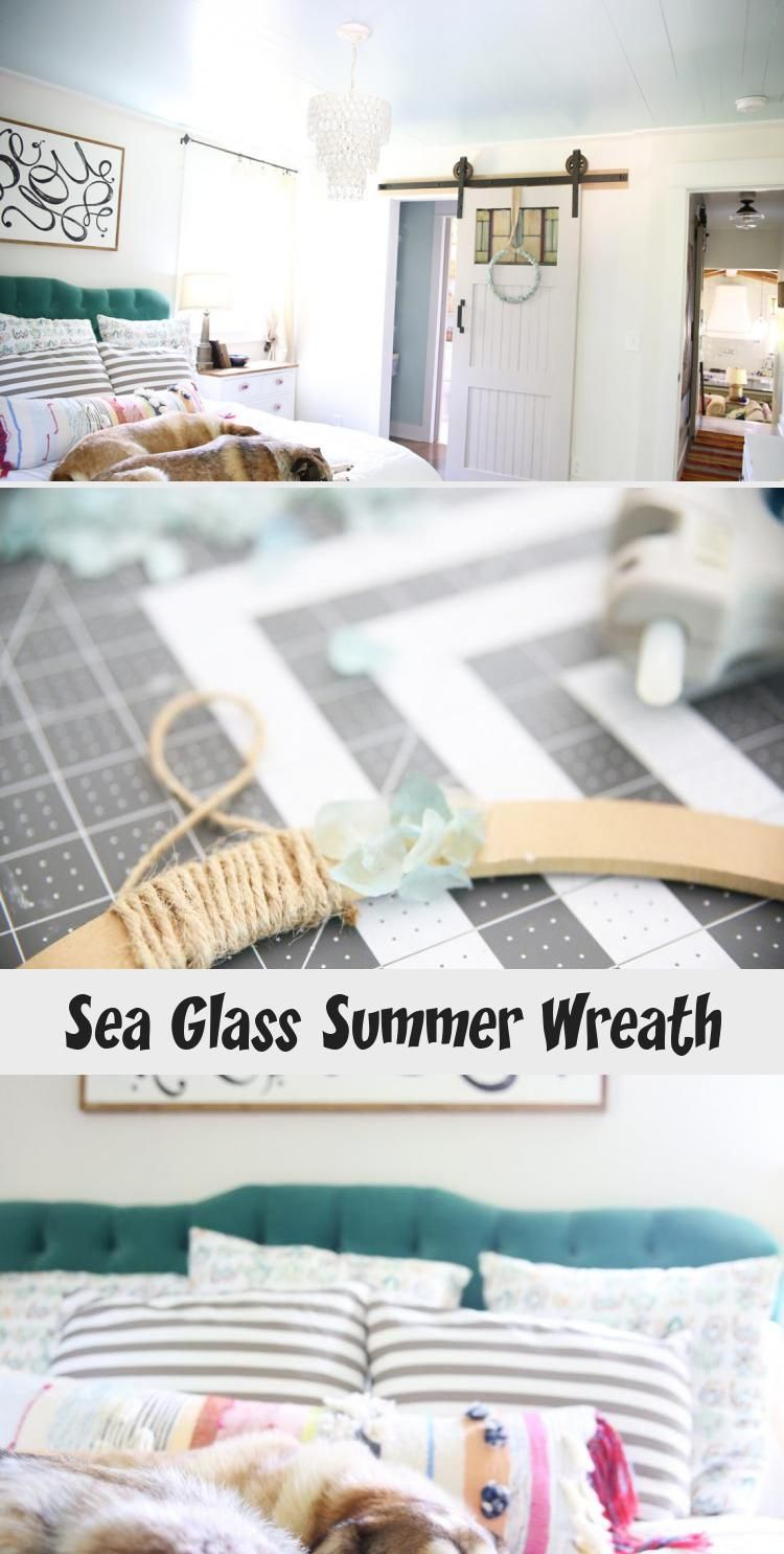 Add a little fun to your home decor with this simple sea glass wreath. A great project for any age. #wreath #decor #summerwreath #kidproject #door #home decor #kidcraft #easywreath #seaglass #bluewreath #prettywreath #easydecor #girlsroom #summercraft #HomeDecorDIYVideosCheap #HomeDecorDIYVideosIdeas #HomeDecorDIYVideosProjects #HomeDecorDIYVideosLivingRoom #HomeDecorDIYVideosApartment