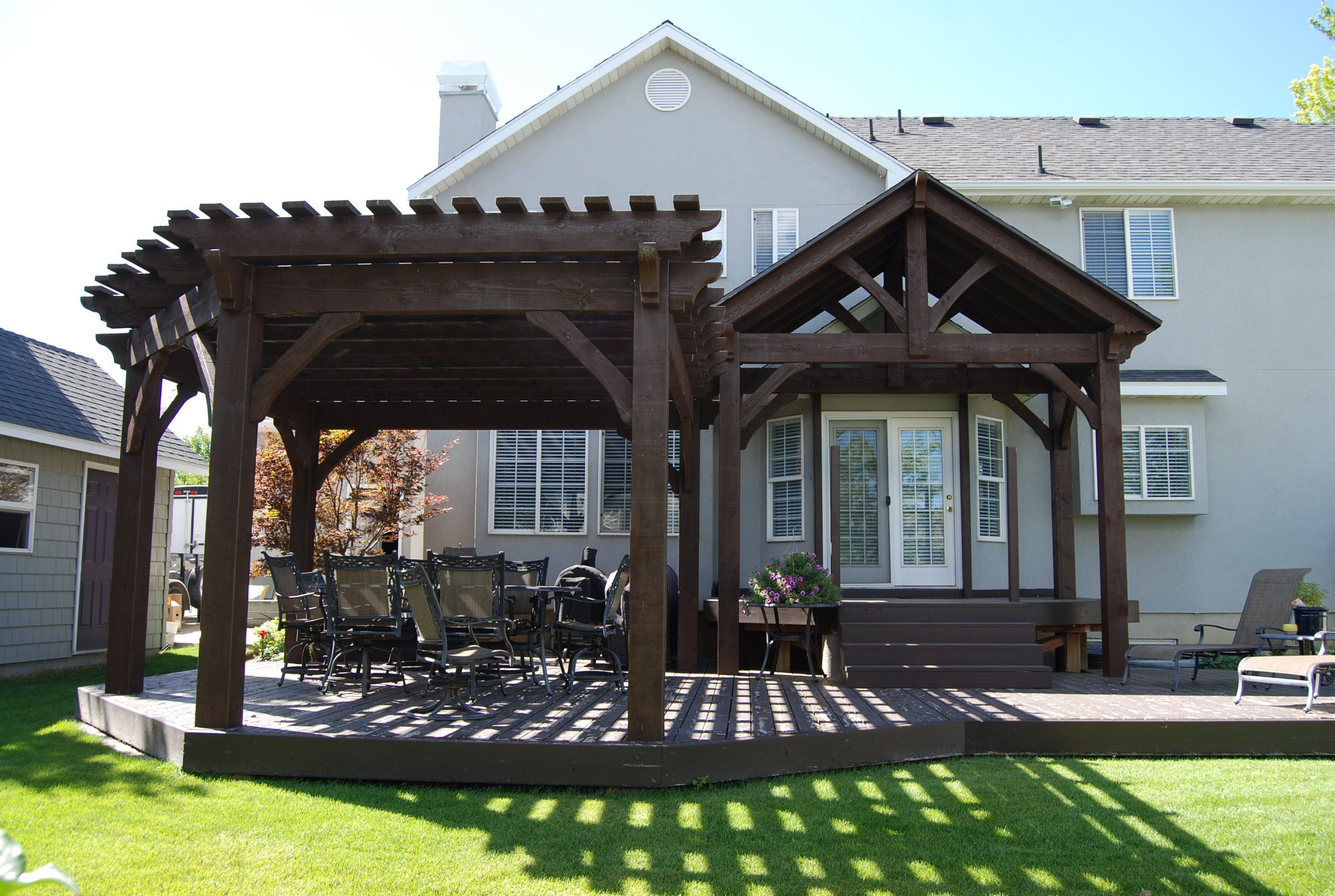 diy timber frame pavilion and pergola kit for a family party yard