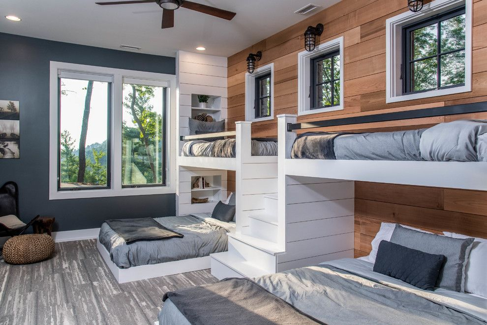Twin Bunk Beds With Stairs Sweet Contemporary Bedroom Contemporary Bunk Beds Decoratively Color Palette Contemporary With Espresso Bunk Beds With Pantry Door Built In Bunks Bunk Beds With Stairs