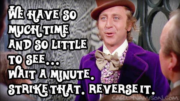 Image result for willy wonka so much time and so little to do gif