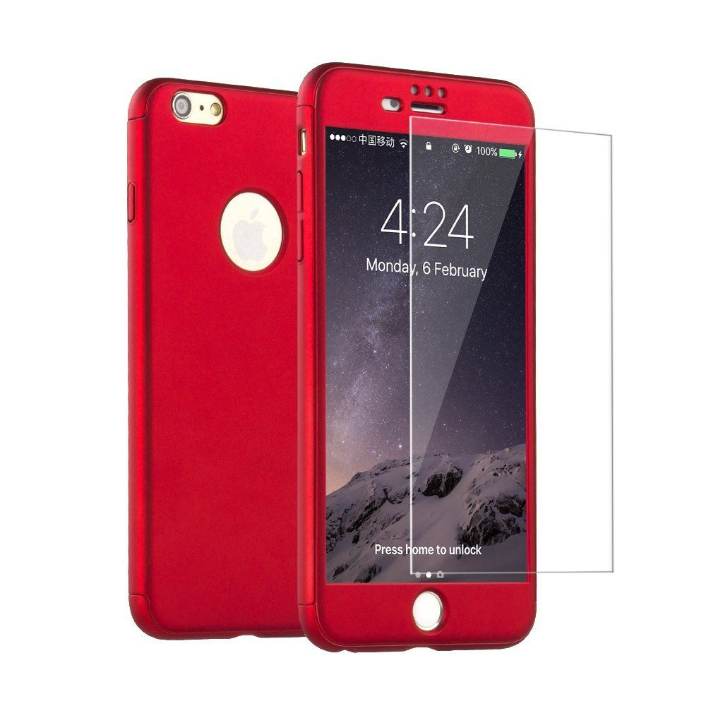 For Apple iPhone 6 6s Plus Luxury 360 Degree Protection Mobile ...