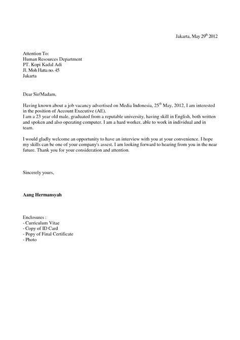 Contoh Surat Lamaran Kerja Dalam Bahasa Inggris Untuk Tenaga