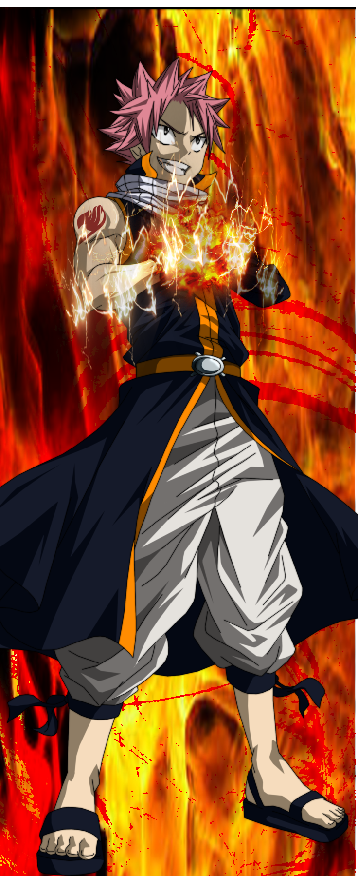 fairy tail Natsu Dragneel lightning flame dragon mode ER