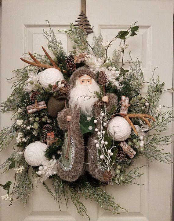 Photo of Weihnachtsmannkranz, Weihnachtskranz, Weihnachtskranz für Haustür, Weihnachtskranz, Weihnachten, Weihnachtsmannkranz