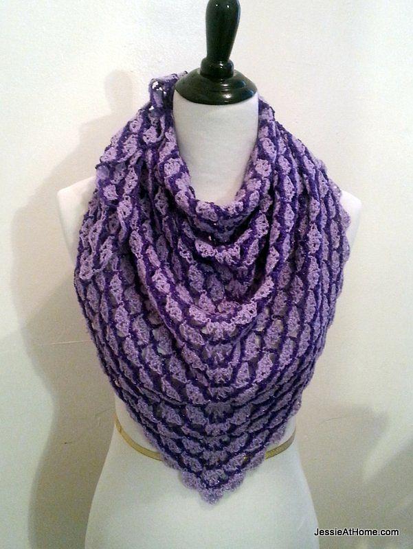 Free Crochet Pattern: Lavender Blooms Shawl – Make It Crochet ...