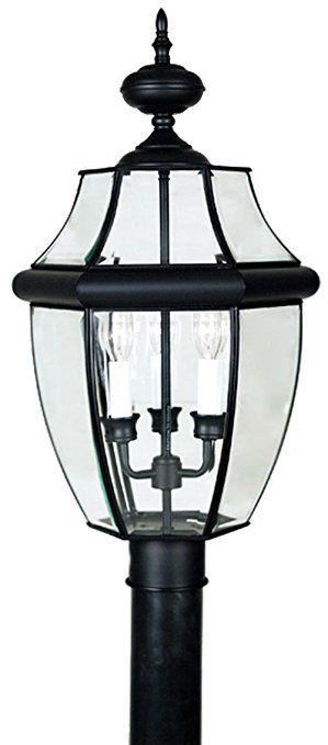 Quoizel Ny9043k Newbury 3 Light Outdoor Post Lantern Mystic Black Outdoor Post Lights Post Lights Lantern Post