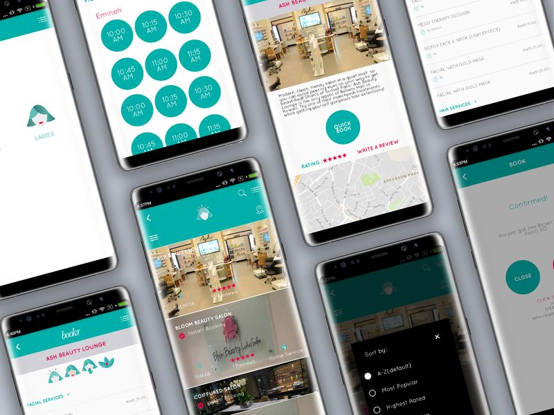 A directory app for nearby salons and spas spa salon