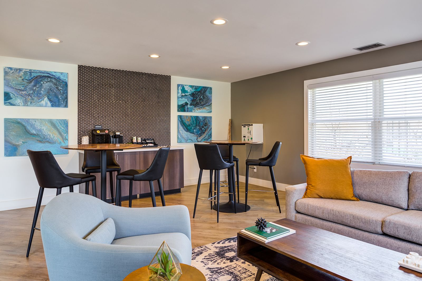 Grab A Pick Me Up Cup Of Coffee At Our Coffee Station In Our Clubhouse Amenities Thefitzgerald Apartments Mn Home Bedroom Floor Plans Apartments For Rent