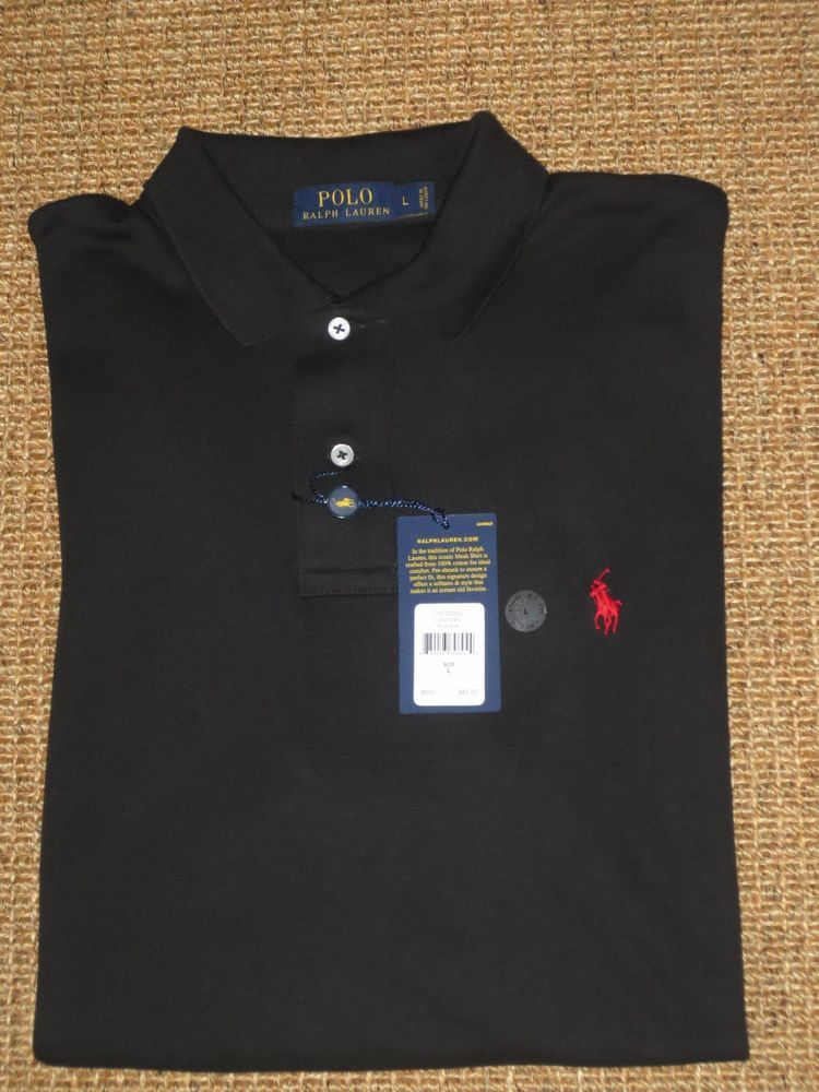 820f46f440f5d0 POLO RALPH LAUREN POLO SHIRT BLACK CLASSIC FIT LARGE MEN S  85 TAG   POLORALPHLAUREN  PoloRugby