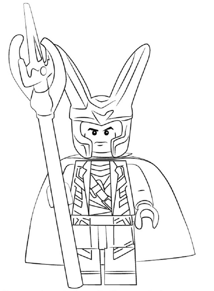 Lego Loki Coloring Pages Lego coloring pages